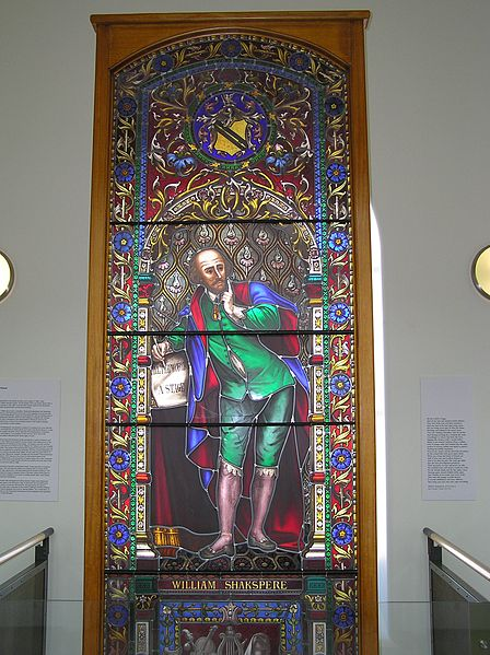 Stained Glass of William Shakespeare, State Library of Victoria