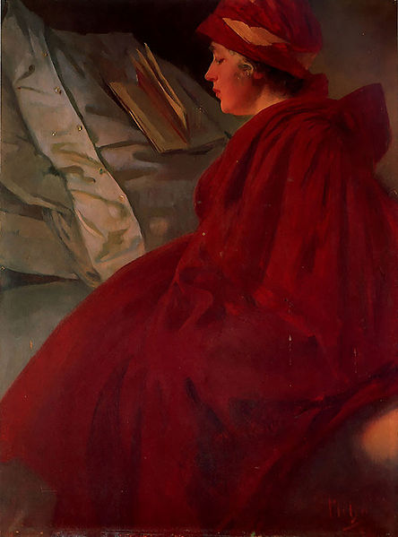 The Red Cape by Mucha, 1902