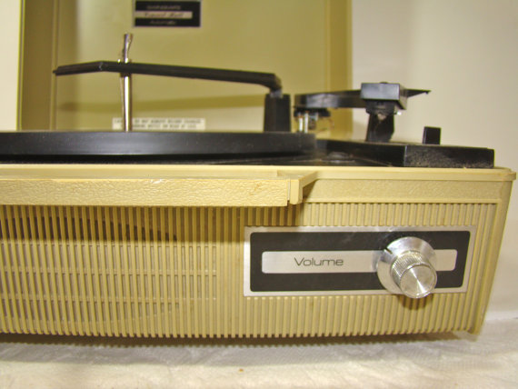 Vintage Emerson Portable Record Player at The Gray Fedora