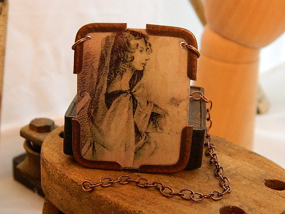 Anne Brontë Mixed Media Necklace by Sarah Wood Jewelry
