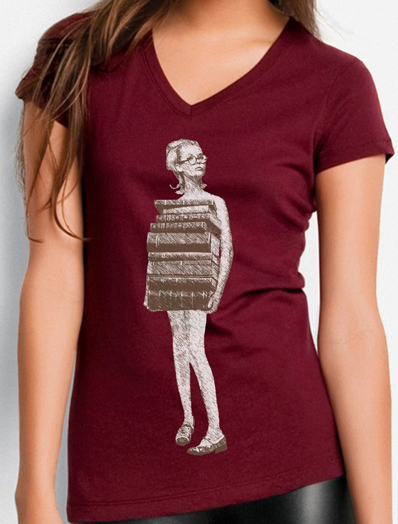 Just Books T-Shirt by To The Moon and Back
