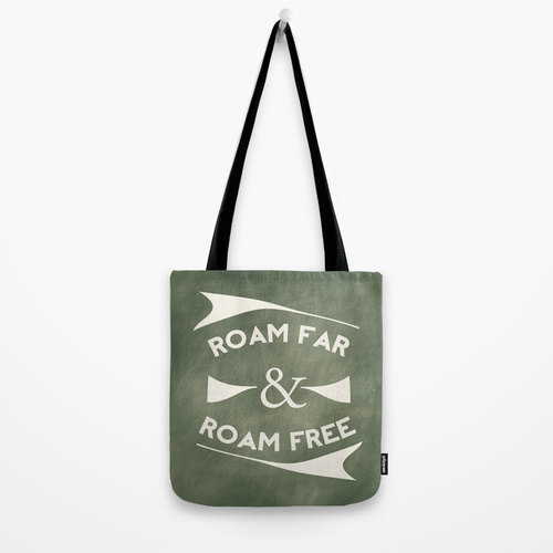 Roam Far & Roam Free Market Tote Bag by Belles and Ghosts