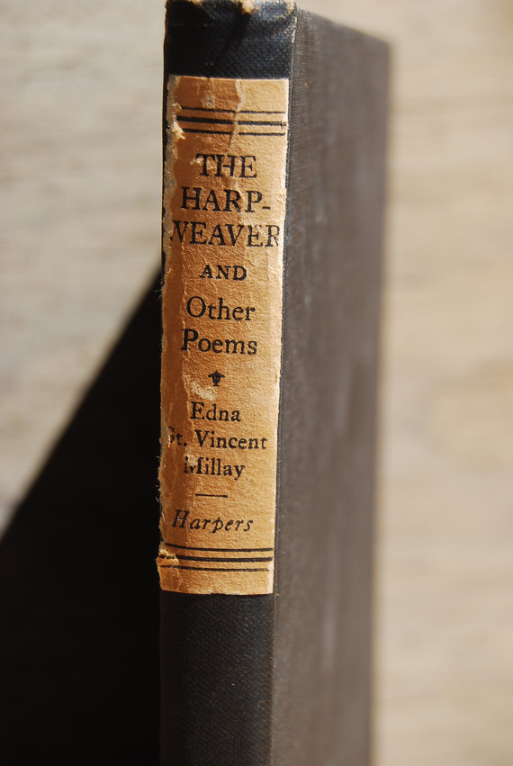 The Harp Weaver and Other Poems by Edna St. Vincent Millay, 1923, at Psychedelphia