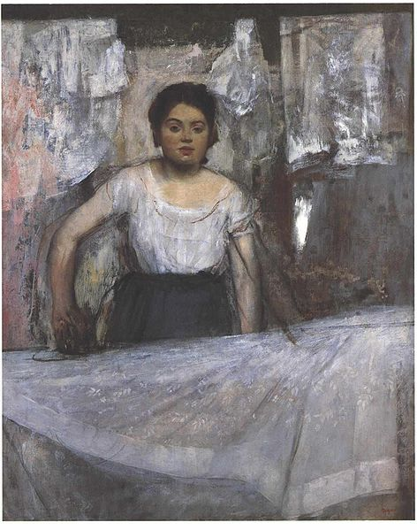 Ironing Woman by Edgar Degas, 1869