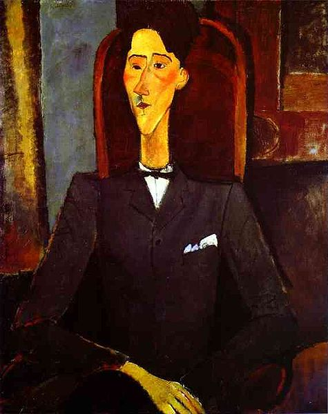Portrait of Jean Cocteau by Amedeo Modigliani, 1916