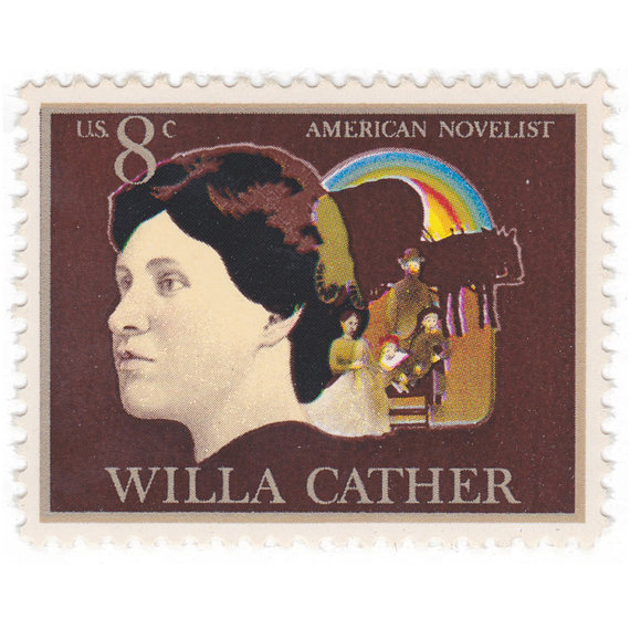 Set of Ten Willa Cather Stamps at Vintage Postage Shop