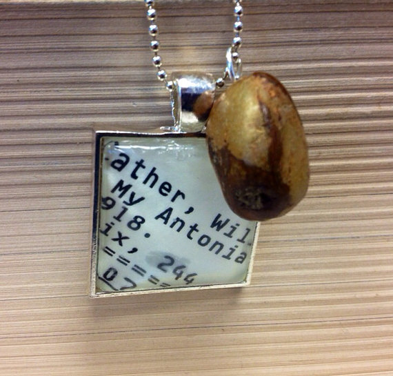 Willa Cather My Antonia Library Card Catalog Pendant by Parker's Porch