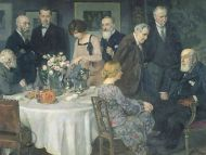 A Group of Artists by Jules-Alexandre Grun, 1929