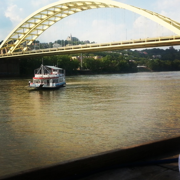 Boat Bridge River