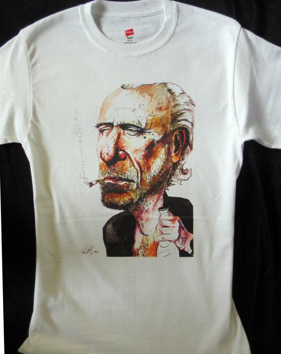 Charles Bukowski T-Shirt by Bruns Illustration