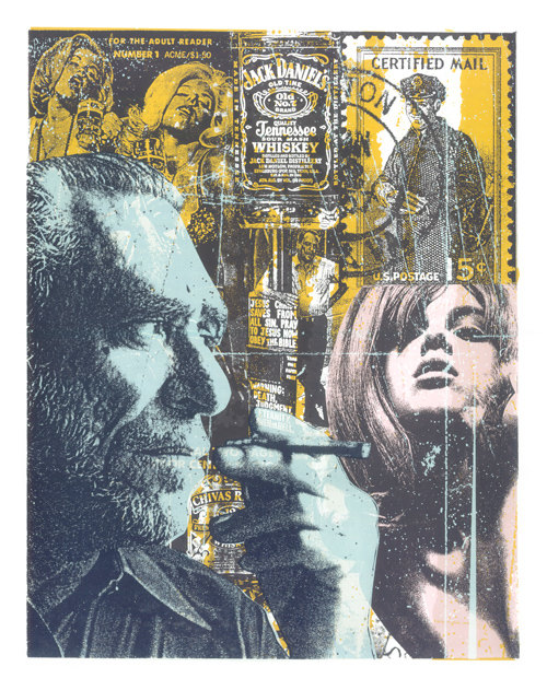 Don't Try Charles Bukowski Screen Print by Print Mafia Designs