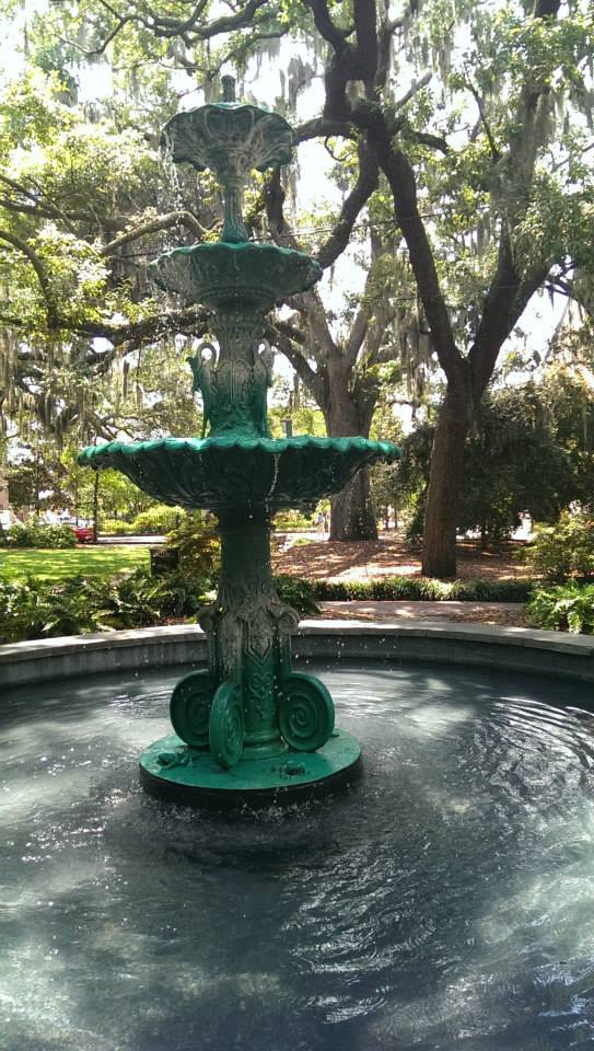 Fountain at Lafayette Square, which is across the street from the O'Connor Home