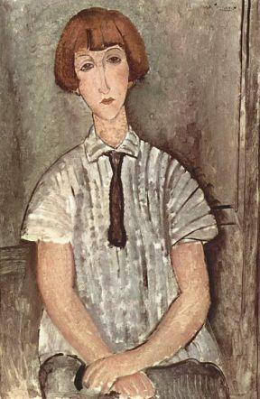Mädchen mit Bluse by Amedeo Modigliani, 1917
