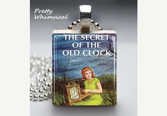 Nancy Drew Scrabble Tile Pendant by Pretty Whimsical