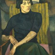 Portrait of Nina Hamnett by Roger Fry, 1917