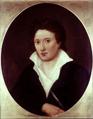 Portrait of Percy Bysshe Shelley by Amelia Curran, 1819