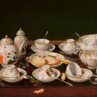 Still Life Tea Set by Jean-Etienne Liotard, circa 1781-1783