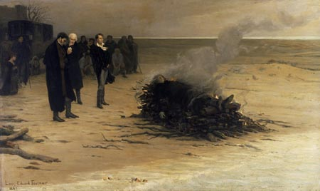 The Cremation of Percy Bysshe Shelley by Louis Edouard Fournier