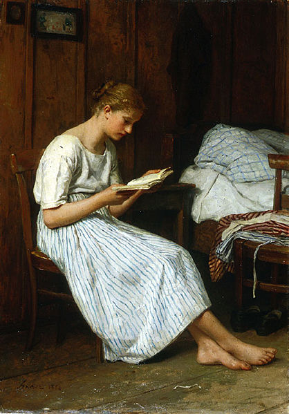 A Gotthelf Reader by Albert Anker, 1884
