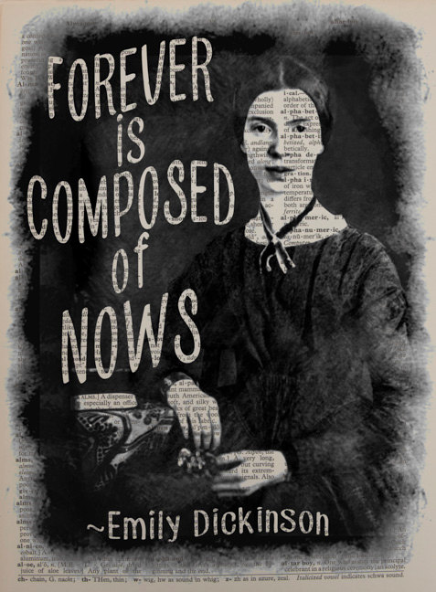 Emily Dickinson Portrait Dictionary Art Print