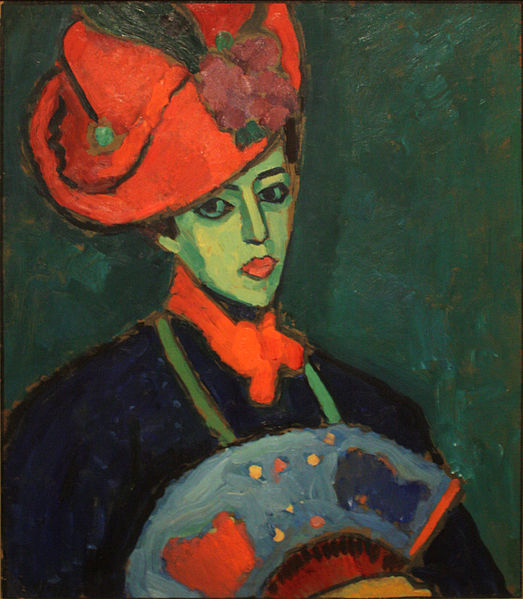 Schokko with Red Hat by Alexej Jawlensky, 1909