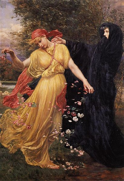 At the First Touch of Winter, Summer Fades Away by Valentine Cameron Prinsep circa 1897