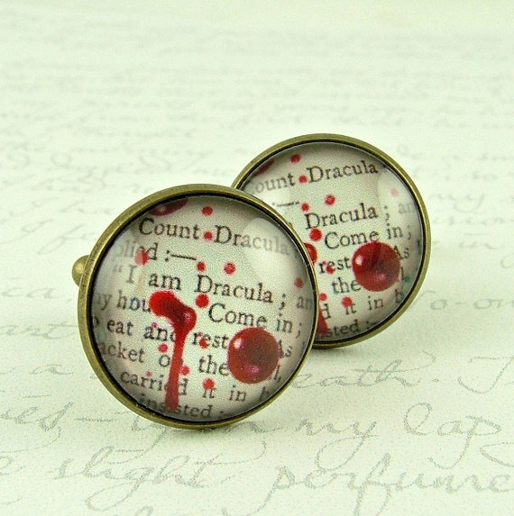 Count Dracula Cufflinks by Jezebel Charms