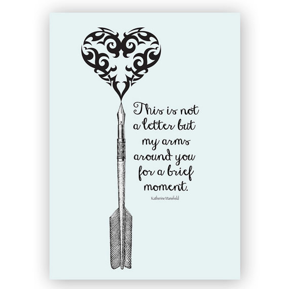 Katherine Mansfield Quote Card by Turtle Doves