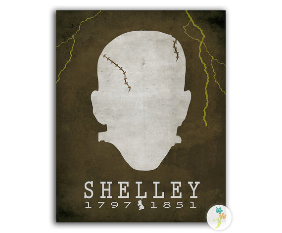 Mary Shelley Print by Creative Daffodil