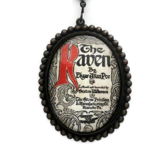 Poe The Raven Necklace by pink80sgirl