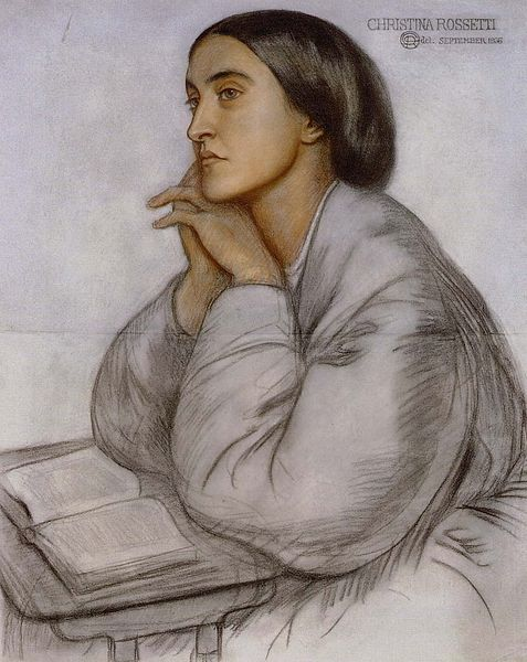 Portrait of Christina Rossetti by Dante Gabriel Rossetti, 1866