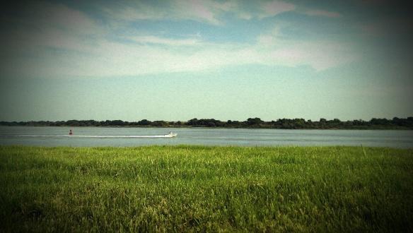 Speedboat on the Savannah River