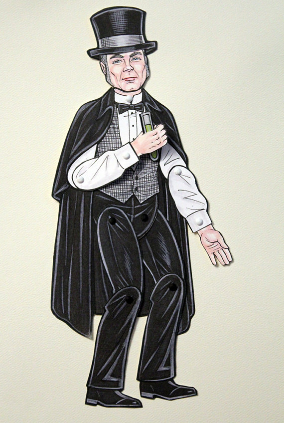 Strange Case of Dr Jekyll and Mr Hyde Articulated Paper Doll by Ardently Crafted