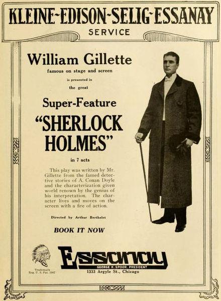 William Gillette in Sherlock Holmes, 1916