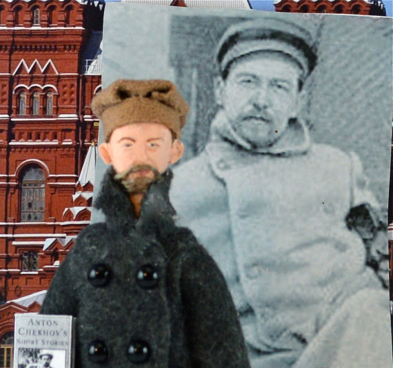 Anton Chekhov Miniature Doll by Uneek Doll Designs