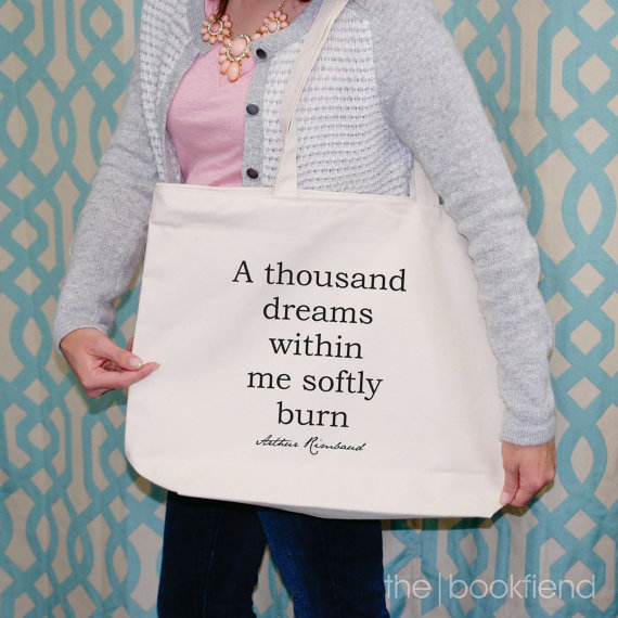 Arthur Rimbaud Quote Tote by The Book Fiend