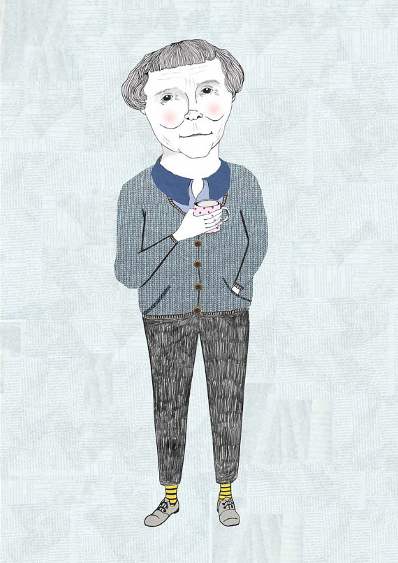 Astrid Lindgren Portrait Illustration by Dani's Drawings