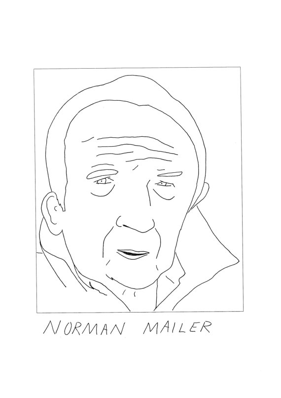Badly Drawn Norman Mailer Card by Badly Drawn Authors