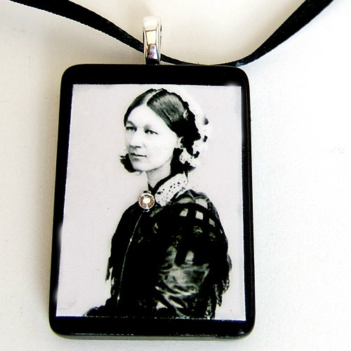Florence Nightingale Tile Pendant by LDphotography