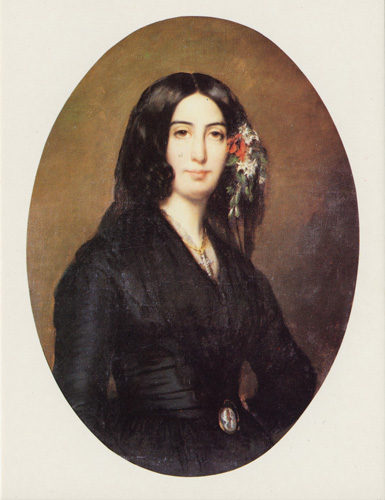 George Sand by Auguste Charpentier, 1838