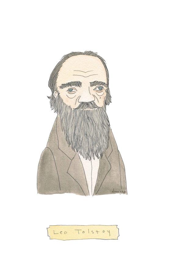 Leo Tolstoy Print by Terrific Friends