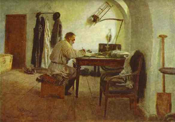 Portrait of Leo Tolstoy in His Study by Ilya Repin, 1891