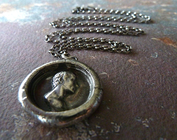 Schiller Wax Seal Necklace by Renate and Jonathan