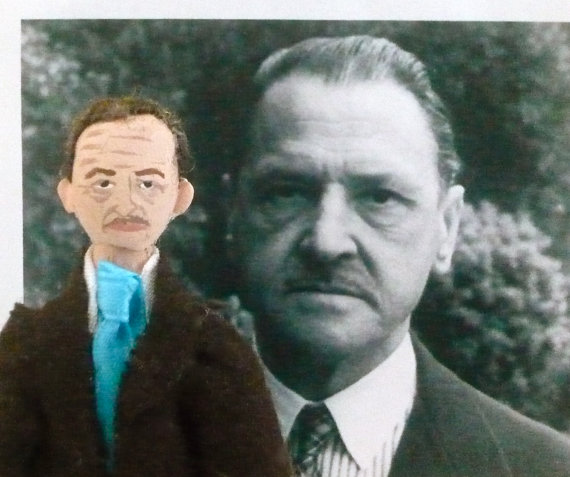 W. Somerset Maugham Miniature Doll by Uneek Doll Designs
