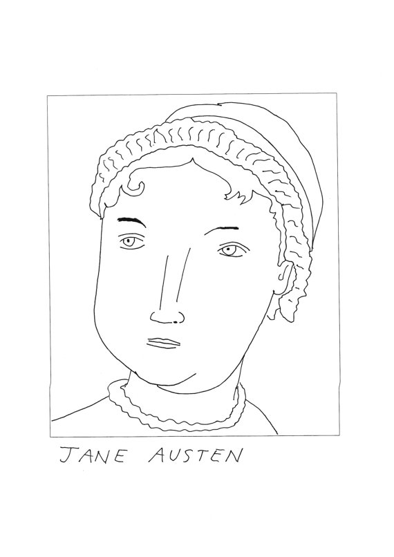 Jane Austen Poster by Badly Drawn Authors