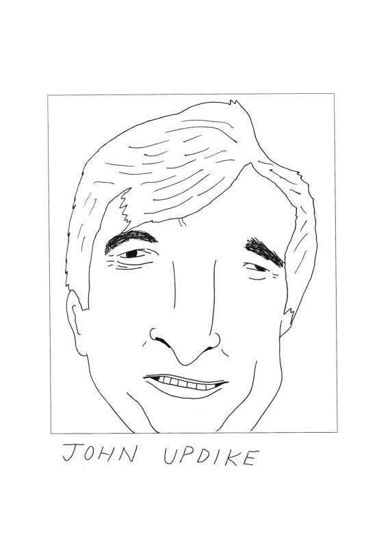 John Updike Poster by Badly Drawn Authors