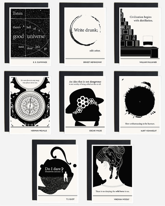 Literary Greeting Card Collection by Obvious State