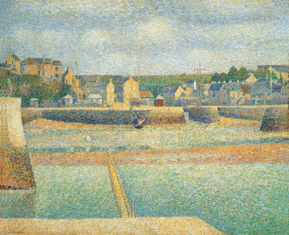 Port-en-Bessin: The Outer Harbor (Low Tide) by Georges Seurat, 1888