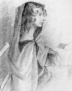 Pencil Drawing of Anne Brontë by her sister Charlotte, 1845
