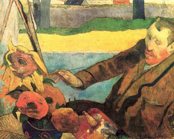 Van Gogh Painting Sunflowers by Paul Gauguin, 1888